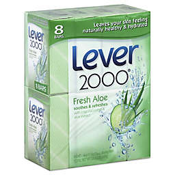 Lever 2000® 8-Pack 4 oz. Clean Rinsing Bar Soap with Fresh Aloe
