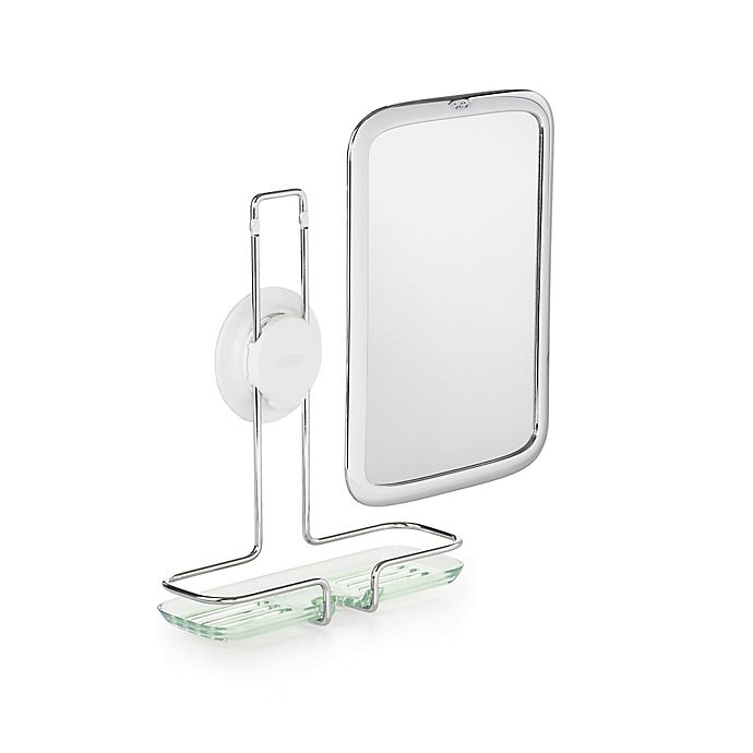 Alternate image 1 for OXO Good Grips® Fogless Adhesive Mount Mirror in Chrome