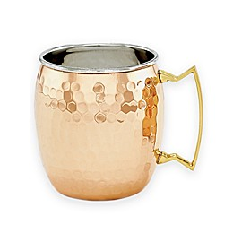 Old Dutch International 16 oz. Hammered Solid Copper Moscow Mule Mugs (Set of 2)