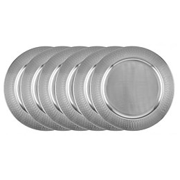Old Dutch International Stainless Steel Charger Plates (Set of 6)