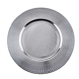 Old Dutch International Brushed Stainless Steel Charger Plates (Set of 4)