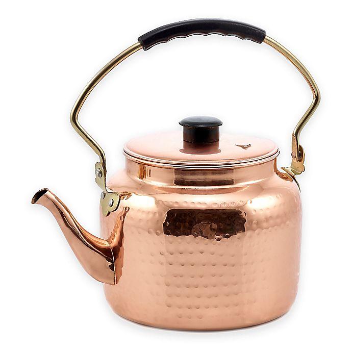 Alternate image 1 for Old Dutch International® 2-Quart Hammered Copper Tea Kettle