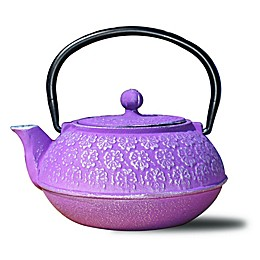Old Dutch International Cherry Blossom Teapot in Plum