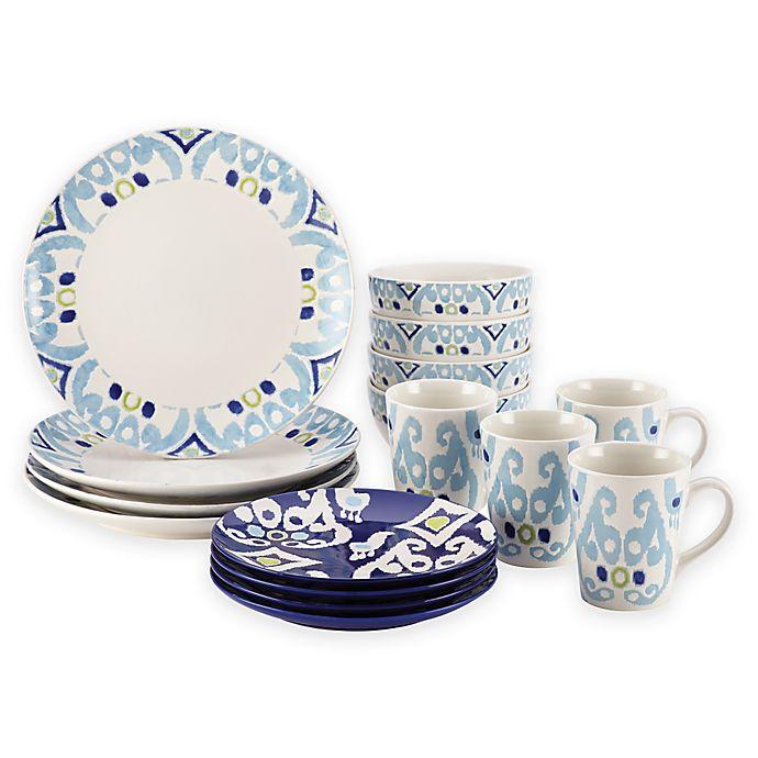 Alternate image 1 for Rachael Ray™ Ikat 16-Piece Dinnerware Set
