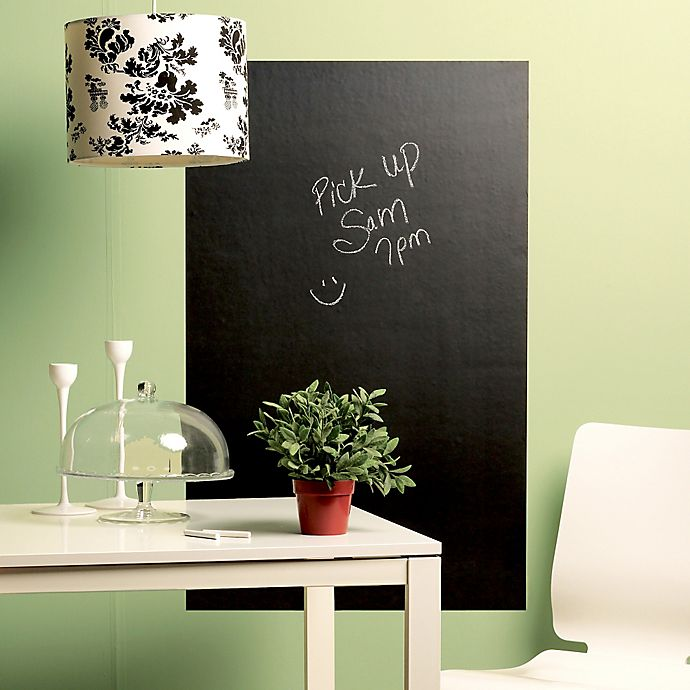 Alternate image 1 for Wallies Peel & Stick Large Chalkboard Decal