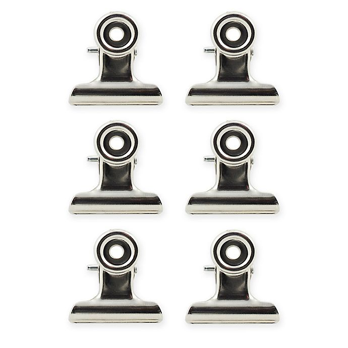 Alternate image 1 for Metal Magnetic Clips 6pck in Silver