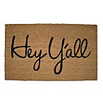 Hey Y'all  Coir 18-Inch x 30-Inch Door Mat
