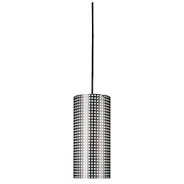 George Kovacs® Grid™ 1-Light Pendant in Brushed Nickel with Steel Shade