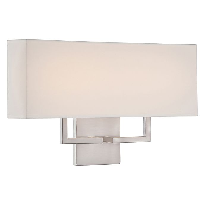 Alternate image 1 for George Kovacs® 1-Lght LED Wall Sconce in Brushed Nickel with Fabric Shade