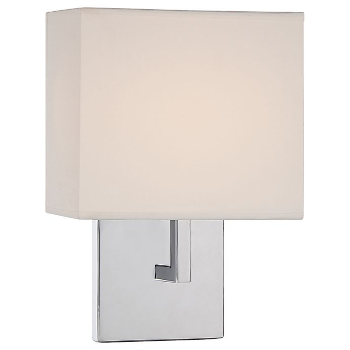 George Kovacs 1 Light Wall Sconce With Fabric Shade Bed