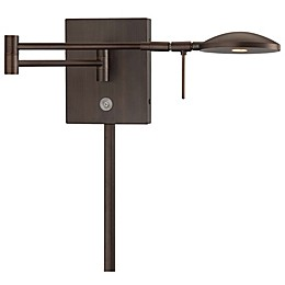 George Kovacs George's Reading Room LED Swing-Arm Wall Lamp with Copper Finish and Metal Shade