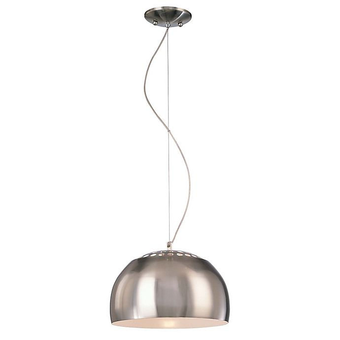 George Kovacs 1 Light Pendant Ceiling In Brushed