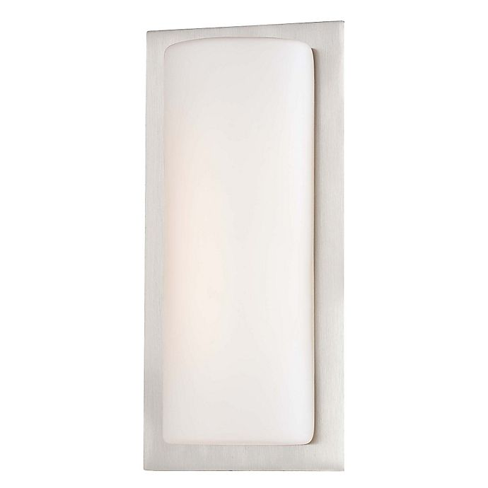 Alternate image 1 for George Kovacs® 1-Light LED Wall Sconce in Brushed Aluminum with Glass Shade