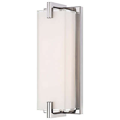 George Kovacs® Cubism LED Wall Sconce in Chrome with Glass Shade