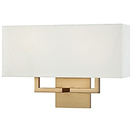 George Kovacs® 2-Light Wall Sconce in Honey Gold with Fabric Shade