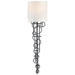 George Kovacs® 1-Light Wall Sconce in Black with Glass Shade