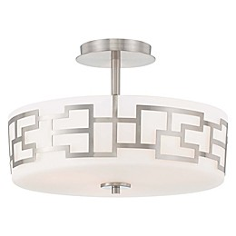 George Kovacs® Alecia's Necklace 3-Light Semi Flush Mount in Brushed Nickel