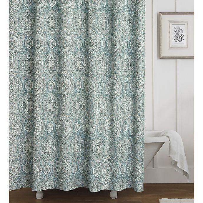 Laura Ashley 174 Ardleigh Shower Curtain In Blue Bed Bath
