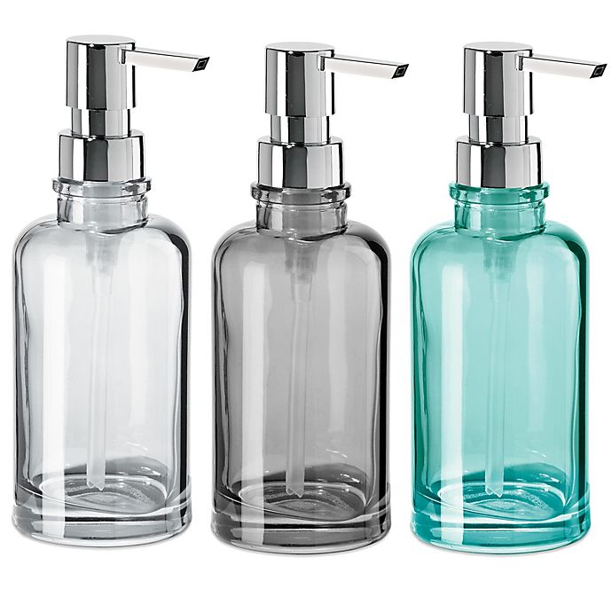 Alternate image 1 for OGGI® Round Glass 12 oz. Soap Dispenser