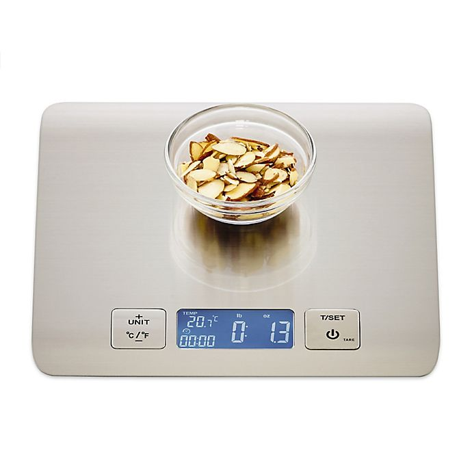 Alternate image 1 for Sabatier® Stainless Steel Electronic Kitchen Scale