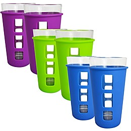 EcoVessel® THE VIBE™ 2-Pack 16 oz. Pint Glass with Protective Silicone Sleeve