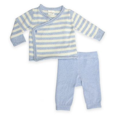 Cuddl Duds 174 Baby Sweater Knit Cardigan And Pant Set In