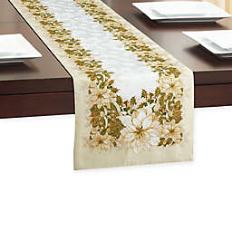 White Poinsettia Table Runner