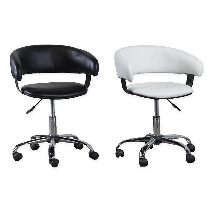 Alternate image 1 for Acquisition Faux Leather Gas Lift Desk Chair