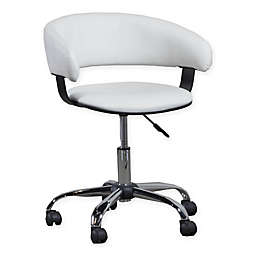 Acquisition Faux Leather Gas Lift Desk Chair in White