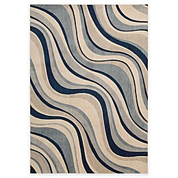 Nourison Somerset Rug in Ivory and Blue