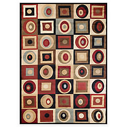 Soho Round and Squares Area Rug