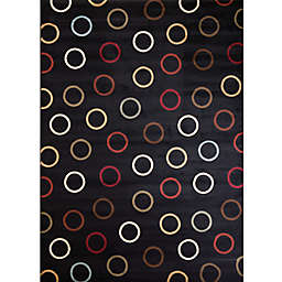 Soho Circles Rug in Black