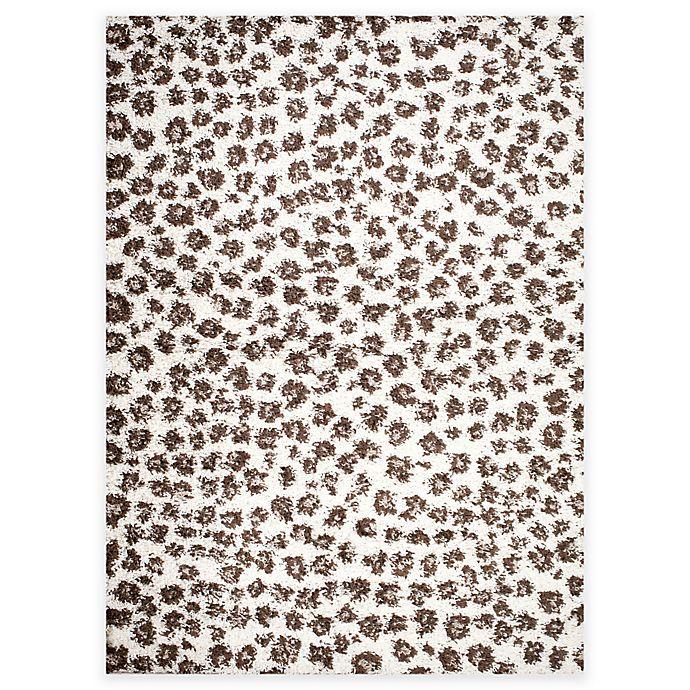 Shaggy Leopard Area Rug