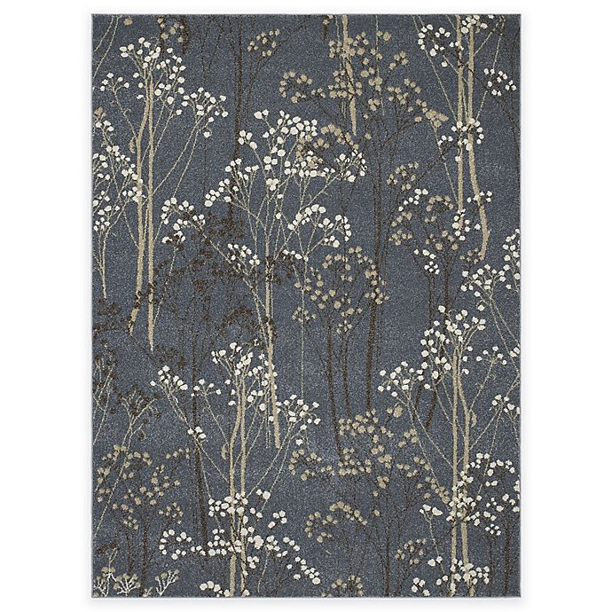 Alternate image 1 for Concord Global Casa Trees 5-Foot 3-Inch x 7-Foot 3-Inch Indoor Area Rug in Blue