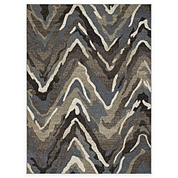 New Casa Waves Area Rug in Blue/Brown