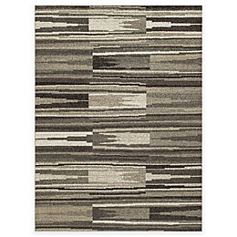 New Casa Patch Stripes Area Rug in Grey