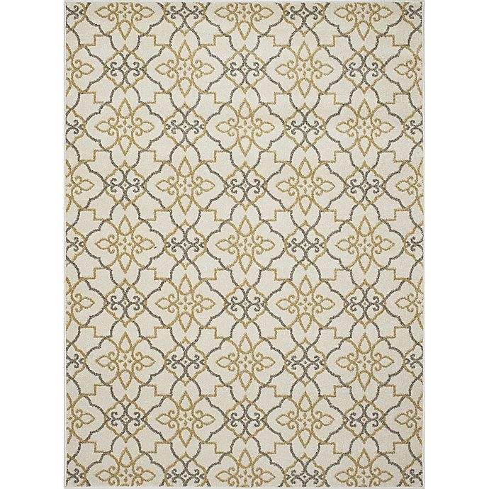 Alternate image 1 for New Casa Trellis 2-Foot 7-Inch x 4-Foot 1-Inch Accent Rug in Yellow/Ivory