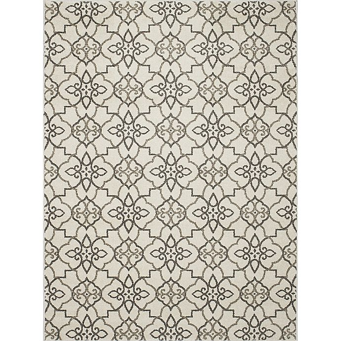 Alternate image 1 for New Casa Trellis 6-Foot 7-Inch x 9-Foot 6-Inch Area Rug in Grey