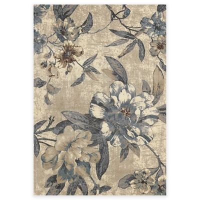 Concord Global Trading Lumina Roses Rug In Ivory Bed
