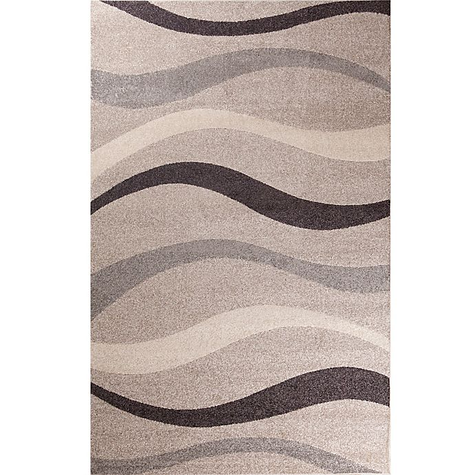 Alternate image 1 for Concord Global Casa Contour 5-Foot x 7-Foot Area Rug in Beige