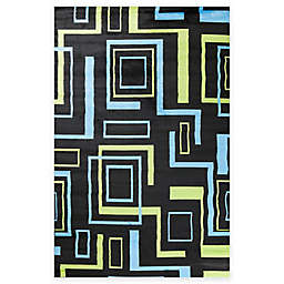 Concord Global Alisa Boxes Rug in Black