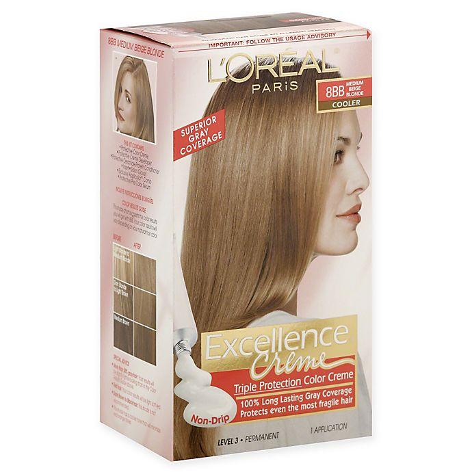 L Oreal Paris Excellence Crème Triple Protection Hair Color In 8bb Medium Beige Blonde