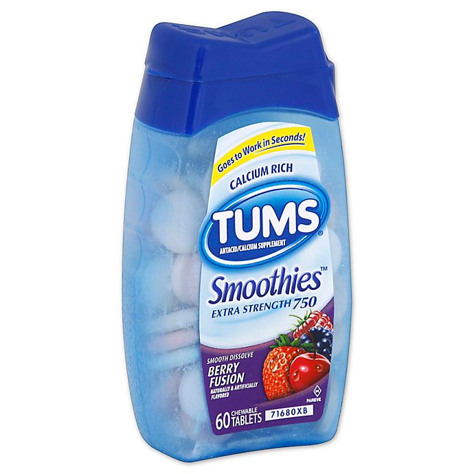 Alternate image 1 for TUMS® Smoothies 60-Count Berry Fusions