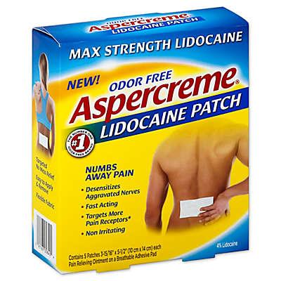 Aspercreme 5-Count Lidocaine Patches