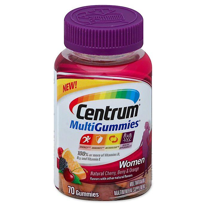 Alternate image 1 for Centrum® MultiGummies® 70-Count Multivitamin for Women in Cherry, Berry & Orange