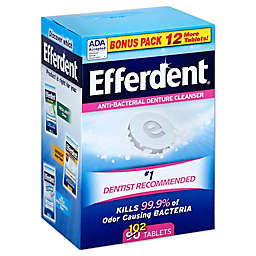 Efferdent® 102-Count Anti-Bacterial Denture Cleanser Tablets