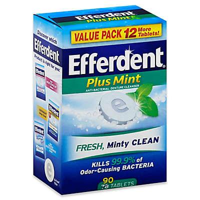 Efferdent® Plus Mint 90-Count Anti-Bacterial Denture Cleanser Tablets