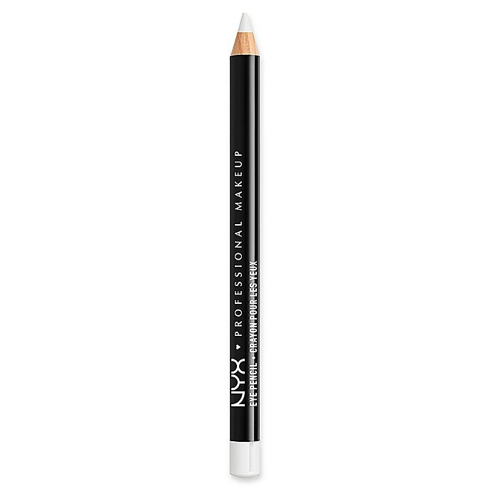 Alternate image 1 for NYX Professional Makeup Slim Eye Pencil in White