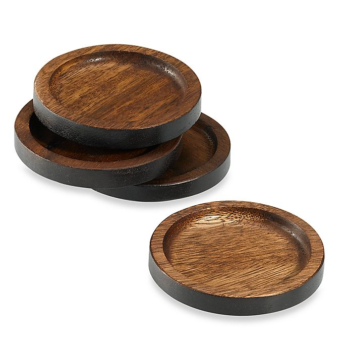Alternate image 1 for Noritake® Kona Wood Coasters (Set of 4)