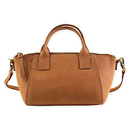 Hadaki Faux Leather Mini Boat Bag in Camel